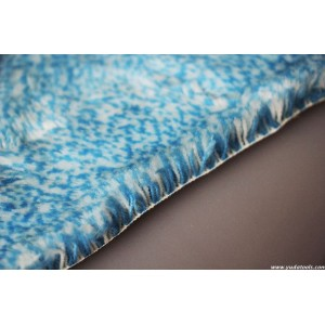 FB 006 Acrylic blue mixed smooth roller fabric