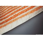 FB 013 Double orange strips chinlon roller fabric